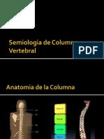 Semiologia Columna Vertebral