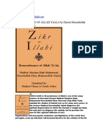 ZIKR-E-ILAHI-REMEMBRANCE OF ALLAH TAALA by Hazrat Maseehullah Khan Saheb(R.A)