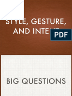 Style Gesture Intent