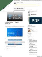 Menghubungkan Dua Laptop Dengan WiFi