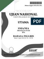 Bocoran Soal UN Bahasa Inggris SMA IPA 2016 [Pak-Anang.blogspot.com]