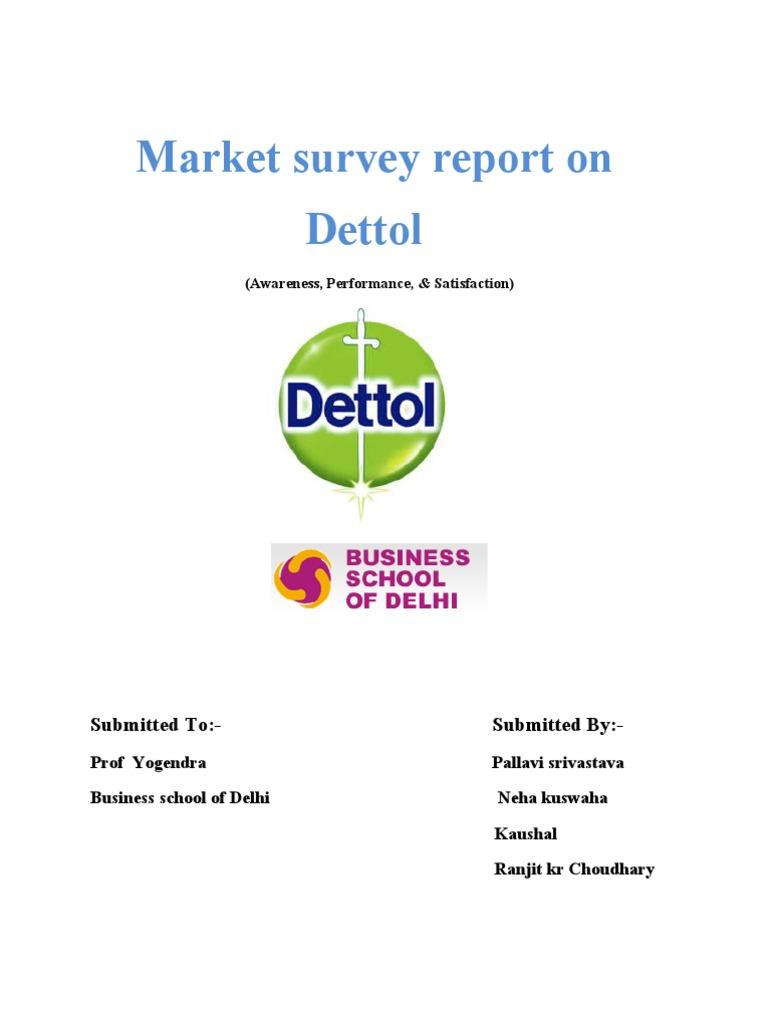 Market survey report on dettol liquid