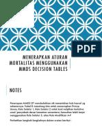 5. Penggunaan Tabel Mmds Untuk Rule Mortality