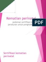 6. Kematian Perinatal ICD-10 Vol 2