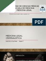 Medicina Legal Criminalistica