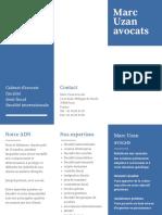 Brochure Marc Uzan Avocats