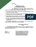 Affidavit of Loss Form-1