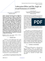 Optimization of Lubrication Effect and Die Angle on Cold Forward Extrusion of AA6063