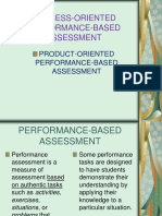 Lesson 5 - Process and Product-Oriented Performance Based Assessment