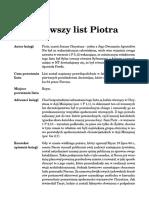 Listy Piotra Fragment