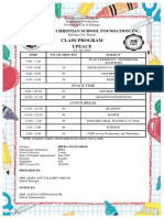 Class Schedule 2017-2018 New