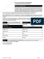 CRS Self Certification Form Individual