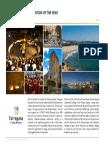 Pàgina de la publicació dels European Awards 2018 dedicada a Tarragona