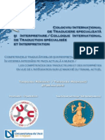 Colocviu International de Traducere Specializata Si Interpretare TIMISOARA 2010