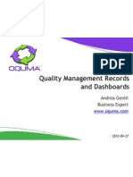 Oquma Quality Management Records and Dashboards