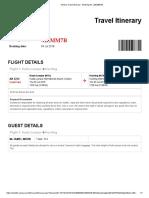 AirAsia Travel Itinerary - Booking No. (MZMM7B) - JAMEL