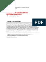 Diagnosis de Las Ciencias Creativas en Términos Universales