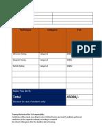 Training Invoice