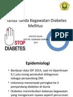 Tanda Tanda Kegawatan Diabetes Mellitus
