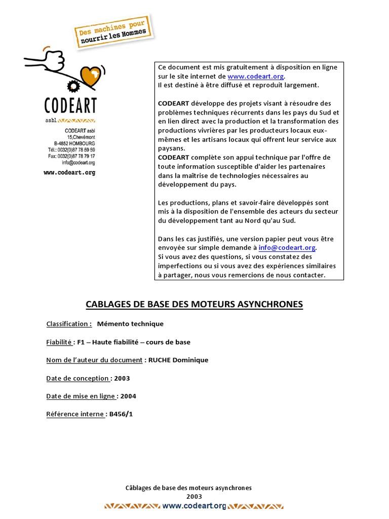 ASYNCHRONES.PDF DES DE BASE GRATUITEMENT MOTEURS TÉLÉCHARGER CÂBLES