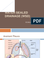 Water Sealed Drainage Wsd Ppt