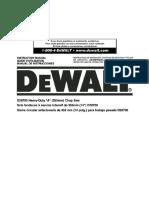 Manual de Instrucciones Tronzadora D28700