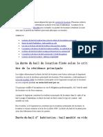 Guide Bail Francais