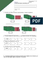 Evaluacion de Matematica Valor Posicional y Secuencia Numerica