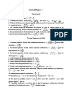 Formula on Thermal Physics -1