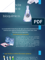 Agua a Nivel Bioquimico