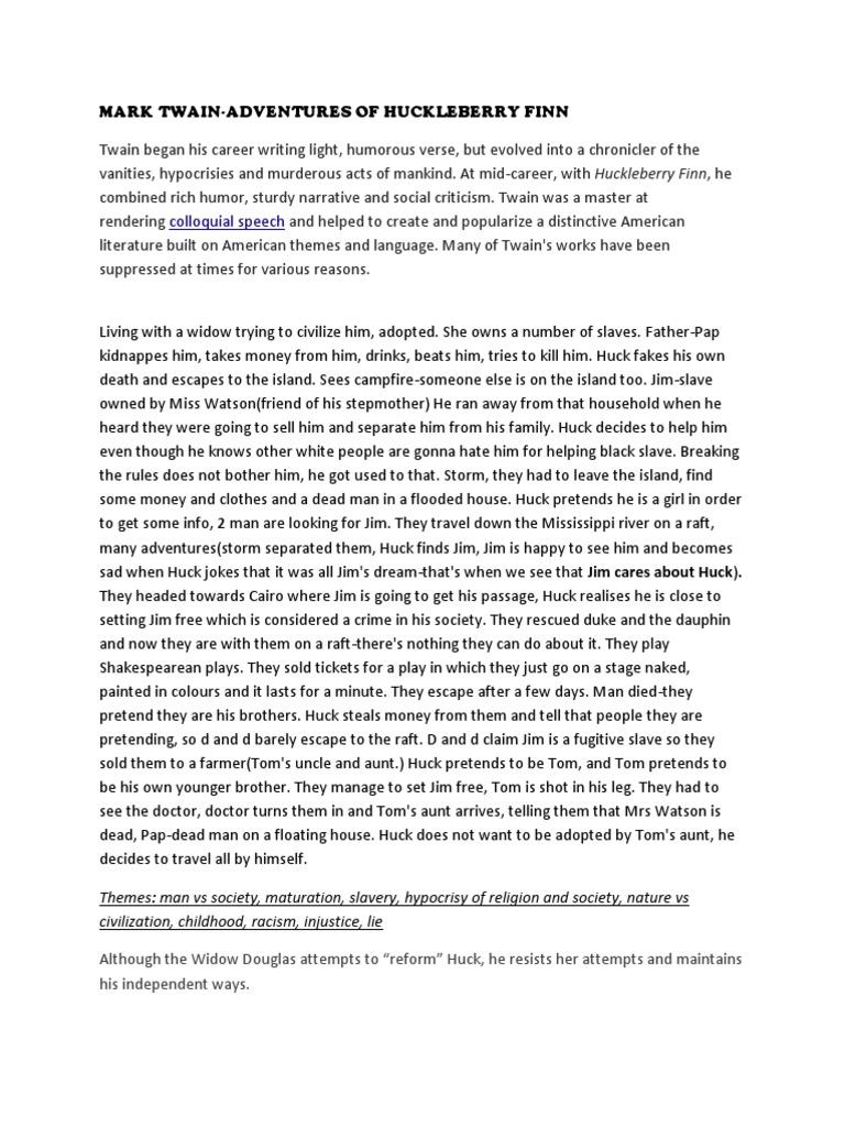 religious hypocrisy in huckleberry finn
