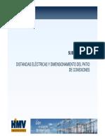 Distancias eléctricas y dimensionamiento de patio subestaciones de potencia.pdf