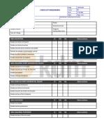 VENT-SS-029 Check List Maquinaria