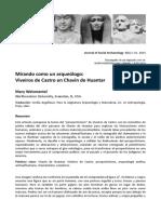 Weismantel -Traducción- Mirando Como Un Arqueólogo. Viveiros de Castro en Chavín de Huantar