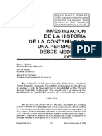 Previts - Investigacion de La Historia de La Contabilidad