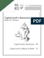 Robert Putnam - Capital social