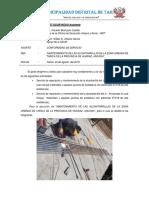 INFORME  N ° 24-2018  CONFORMIDAD alcantarrilla