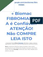 → Biomac FIBROMIALGIA é Confiável? ATENÇÃO! Não COMPRE LEIA ISTO ?