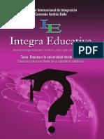 Integra Educativa 23. Repensar La Universidad Desde El Sur