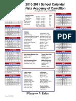 2010-2011 Calendar Carroll Ton