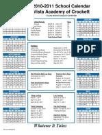 2010-2011 Calendar Crockett