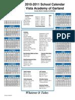 2010-2011 Calendar Garland