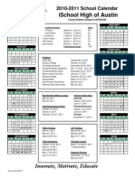 2010-2011 Calendar iSchool High of Austin