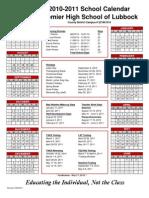 2010-2011 Calendar Lubbock