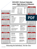 2010-2011 Calendar Mission