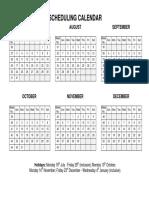 Scheduling Calendar Final