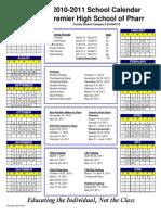 2010-2011 Calendar Pharr