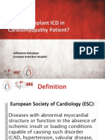 4. When to Implant ICD in Cardiomypathy Patient