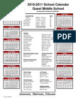 2010-2011 Calendar Quest
