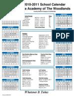 2010-2011 Calendar the Woodlands